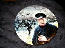 LIMITED ED DISPLAY PLATE ROYAL DOULTON D-DAY LANDINGS CHURCHILL GRAHAM COTON 94